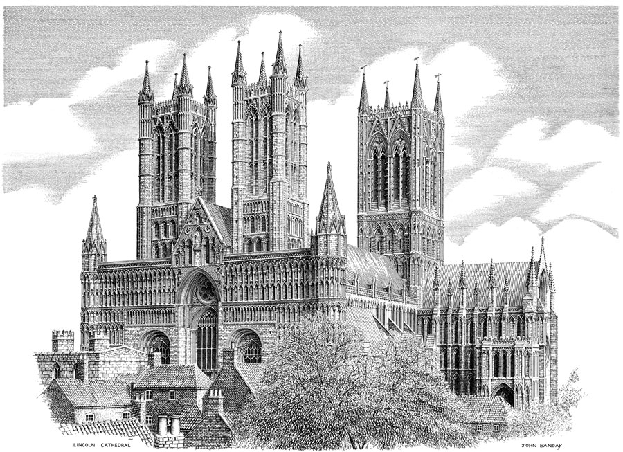 Lincoln Cathedral, South-West