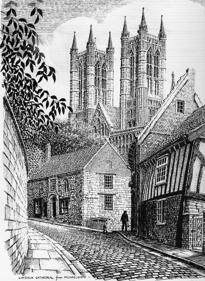 Lincoln Cathedral from Michaelgate