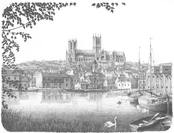 Lincoln Cathedral from Brayford, Lincolnshire Image