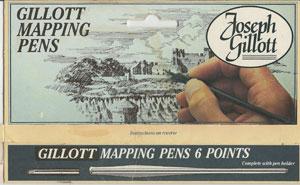 Gillott pens box front