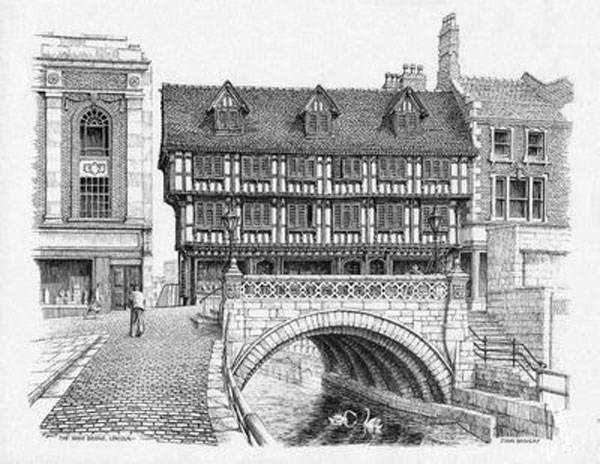 The High Bridge, Lincoln, Lincolnshire Image