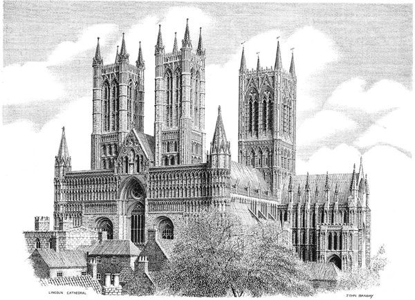 Lincoln Cathedral the south west, Lincolnshire Image