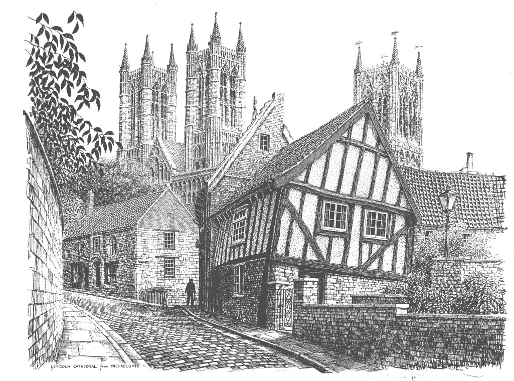 Lincoln Cathedral from Michaelgate, Lincolnshire Image