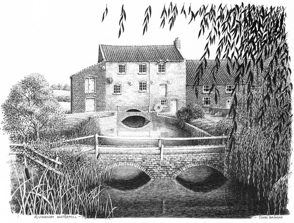 Alvingham Watermill, Lincolnshire Image