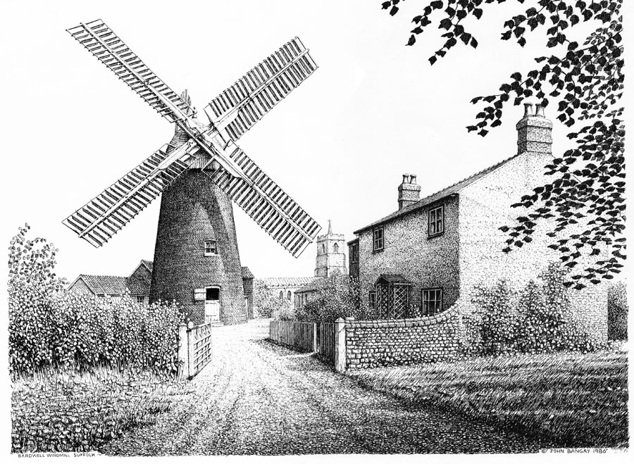 Bardwell Windmill, Bury St Edmunds, Suffolk Image