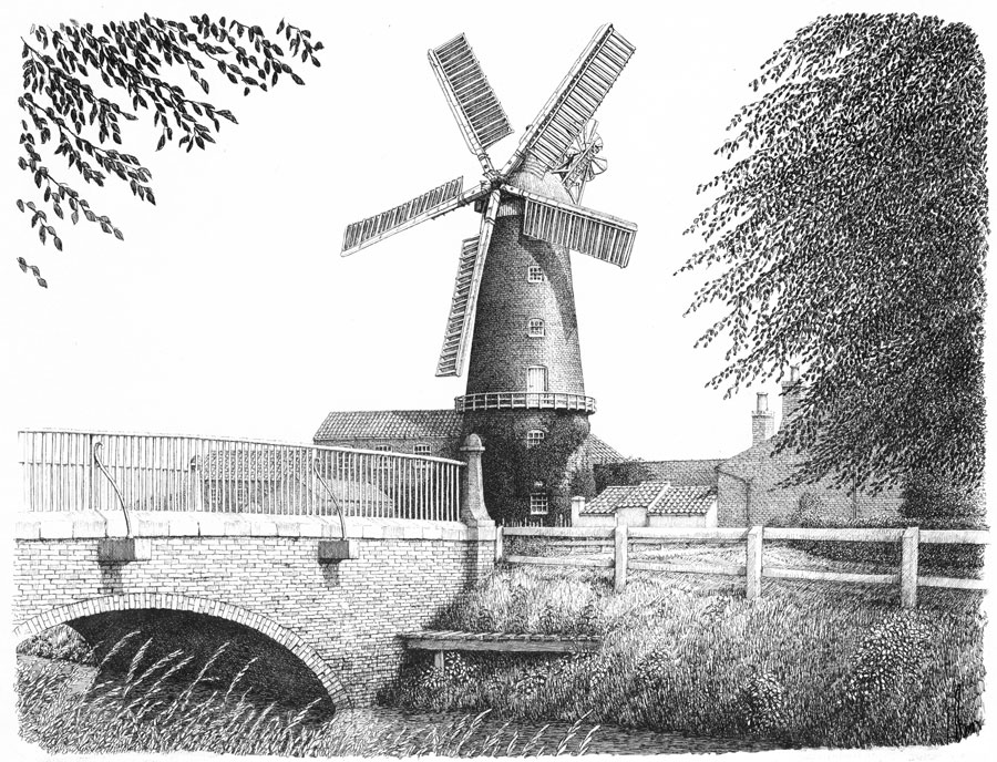 Wainfleet Watermill, Lincolnshire Image